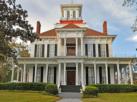 Kendall Manor, ca. 1865, 534 West Broad Street, Eufaula, AL, National Register