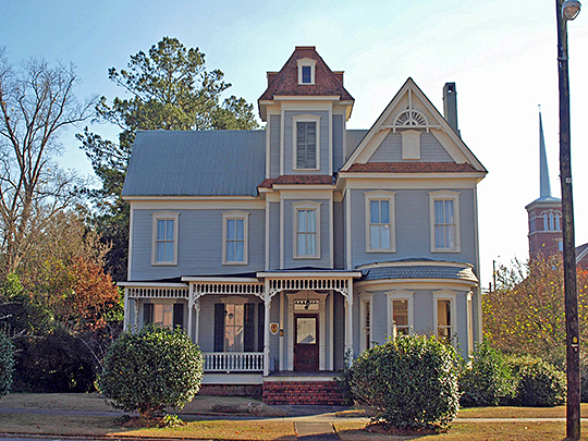 Perry House, ca. 1895, 206 East Commerce Street (Commerce Street Residential Historic District), Greenville, AL, National Register