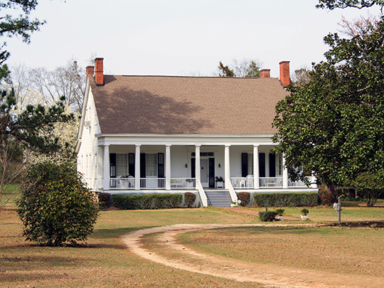 Woodlands Plantation House, ca. 1840, U.S. Route 84, Gosport, AL, National Regsigter