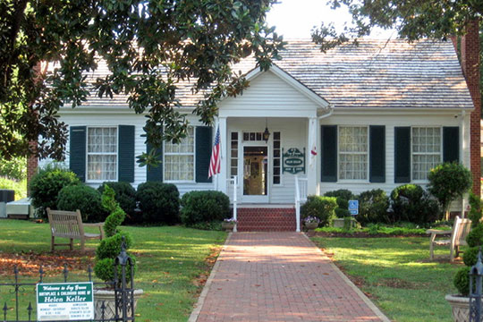 Ivy Green, ca. 1820, 300 West North Commons, Tuscumbia, AL. Birthplace and childhood home of Helen Keller, National Register