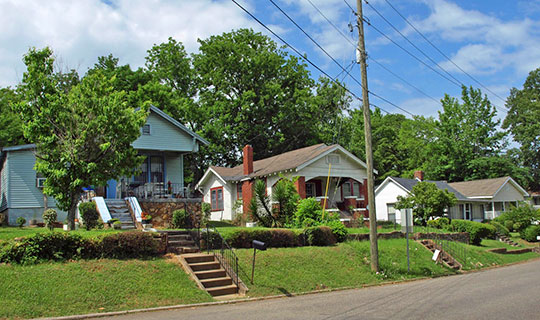 Homes at 1820-1828 26th Avenue South, Rosedale Park Historic District, Homewood, AL, National Register