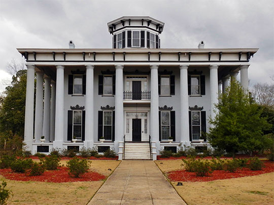 Grey Columns, ca. 1857, 339 Old Montgomery Road, Tuskegee, AL, National Register