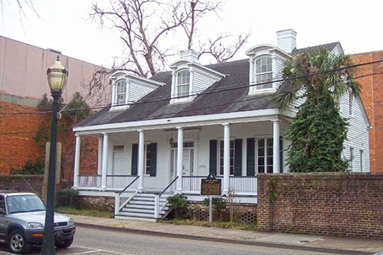 Bishop Portier House, ca. 1834, 309 Conti Street, Church Street East Historic District, Mobile, AL, National Register