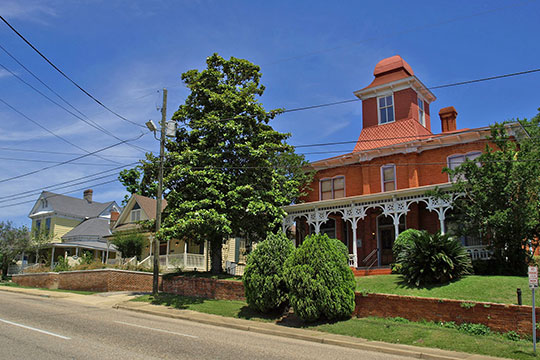 Homes on Clay Street (ca. 1890s), Cottage Hill Historic District, Montgomery, AL, National Register
