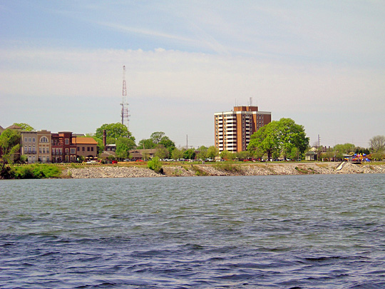 City of Decatur viewed from the Tennessee River.