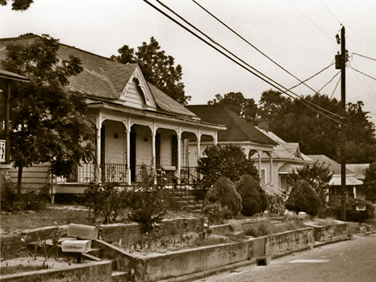 Homes on 11th Avenue, Kid Alley Residential Historic District, Phenix City, AL.