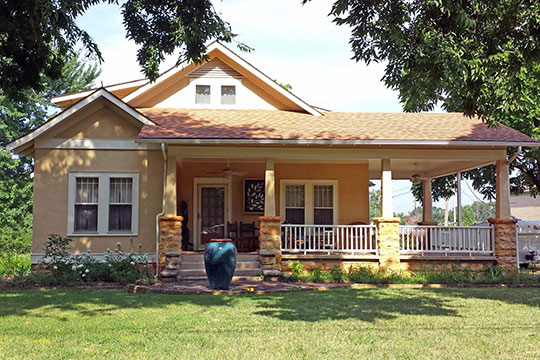John F. Brewer House, ca. 1924, Route 9, City of Mountain View, AR, National Register