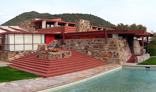 Taliesen West, ca. 1937, Frank Lloyd Wright Boulevard, Scottsdale, AZ, National Register