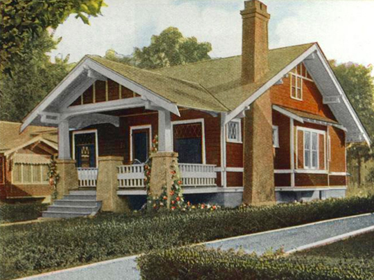 Aladdin Homes Pamona model from their 1916 catalog