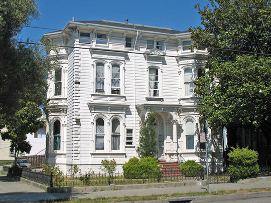 White Mansion, ca. 1878, 604 E. 17th St., Oakland, CA, National Register