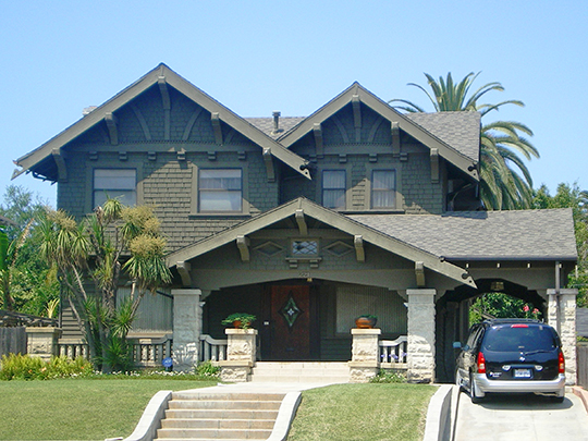 Home at 221 Wilton Place South, ca. 1910, Wilton Historic District, Los Angeles, CA.