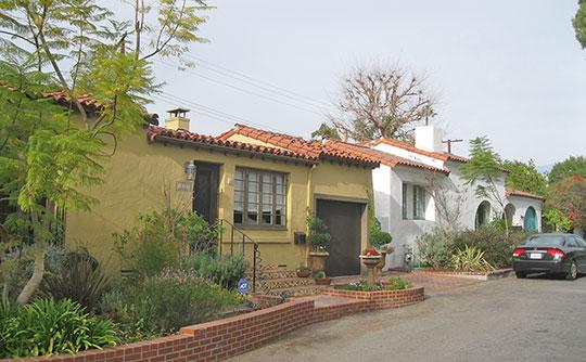 Homes on Marguerita Lane, ca. 1928, Marguerita Lane Historic District, Pasadena, CA, National Register