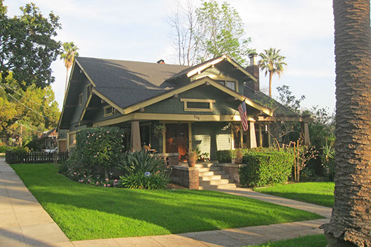 House on Oakland Avenue, ca. 1919, Orange Heights-Barnhart Tracts Historic District, Pasadena, CA, National Register