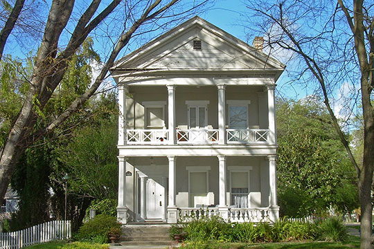 Governor J. Neely Johnson House, ca. 1856, 1029 F Street, Sacramento, CA, National Register