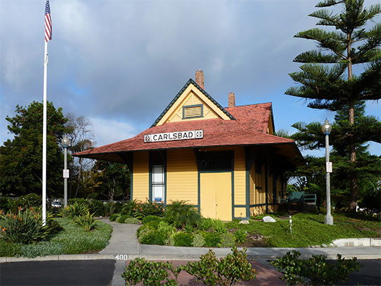 Santa Fe Depot, ca. 1887, 400 Carlsbad Village Drive (Elm Avenue), Carlsbad California, National Register