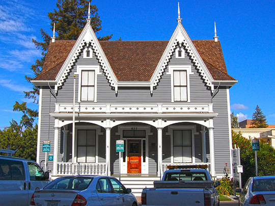 Benjamin Lathrop House, ca. 1863, 637 Hamilton Street, Redwood City, CA, National Register