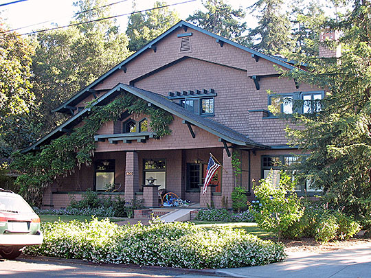 Paul Shoup House, ca. 1910, 500 University Avenue, Los Altos, CA, National Register