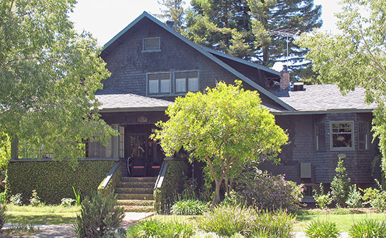 Home at 301 Addison Street, ca. 1904, Professorville Historic District, Palo Alto, CA, National Register