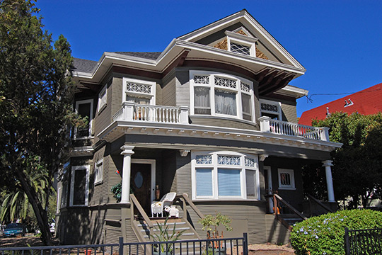 Home on North 5th Street, ca. 1905, Hensley Historic District, San Jose, CA, National Register