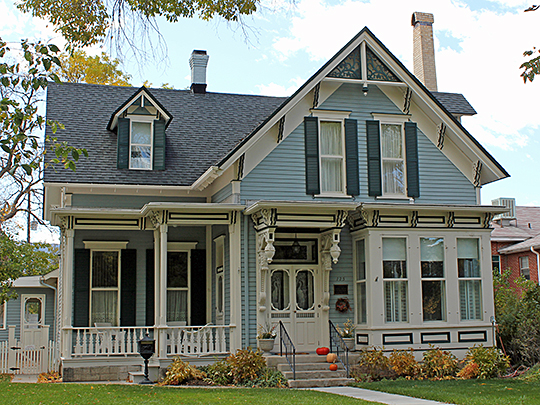 Garret and Julia Gray Cottage, ca. 1882, 125 East 5th Street, Salida, Colorado, National Register