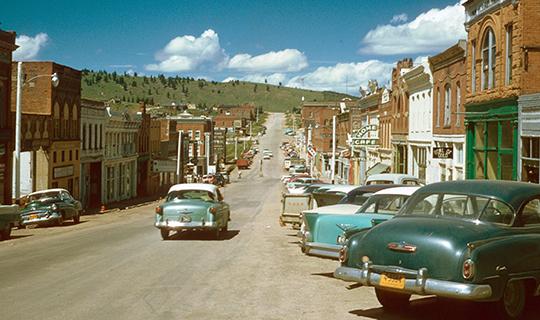 Downtown, ca. 1957, Cripple Creek, Teller County, CO