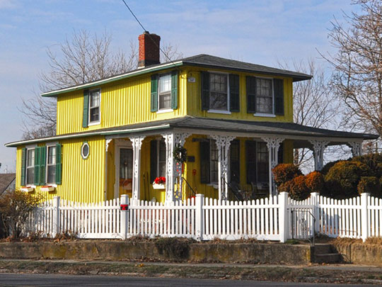 Cassidy House, ca. 1849, 691 Ellsworth Street, Bridgeport, CT, National Register