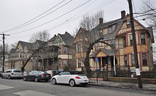 Houses in the Barnum/Palliser Historic District, Bridgeport, Connecticut, National Register