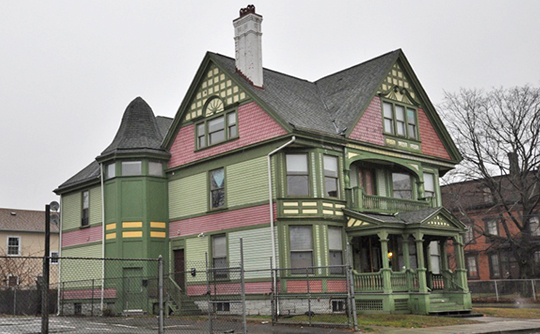Home on Barnum Avenue, East Bridgeport Historic District, Bridgeport, CT, National Register
