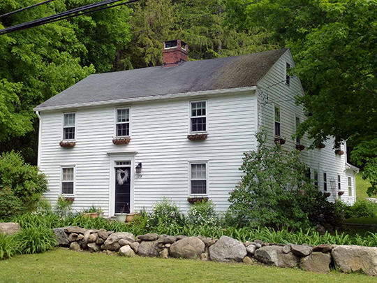 Jesse Barber House, ca. 1789, 259 Cherry Brook Road, Canton Center Historic District, Canton, CT, National Register