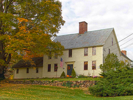 Ezekiel Phelps House, ca. 1744, 38 Holcomb Street, East Granby, CT, National Register