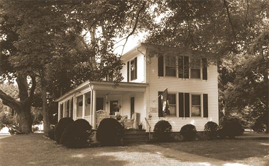 Home on Naubuc Avenue, ca. 1853, Naubuc Avenue-Broad Street Historic District, East Hartford, CT, National Register