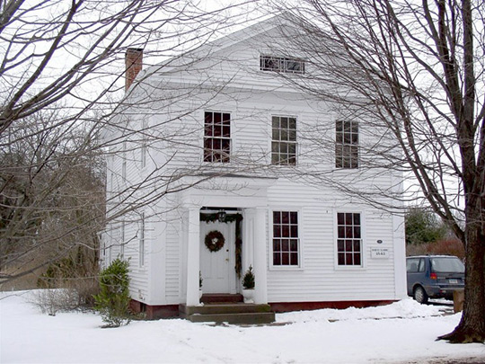 Elmore House, ca. 1840, 87 Long Hill Road, South Windsor, Connecticut, National Register