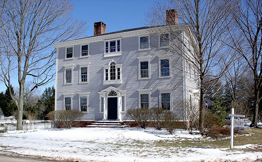 John Watson House, ca. 1788, 1876 Main Street, East Windsor Hill Historic District, South Windsor, CT, National Register