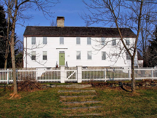 David Welch House, ca. 1758, Milton Road and Potash Road, Milton Village, Town of Litchfield, CT, National Register