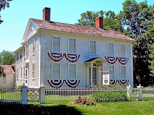 Amasa Day House, ca. 1816 & 1868, Plains Road, East Haddam (Moodus), CT, National Register