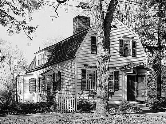 Azabah Field House, Main Street, Cheshire CT, ca. 1801, Historic American Buildings Survey.