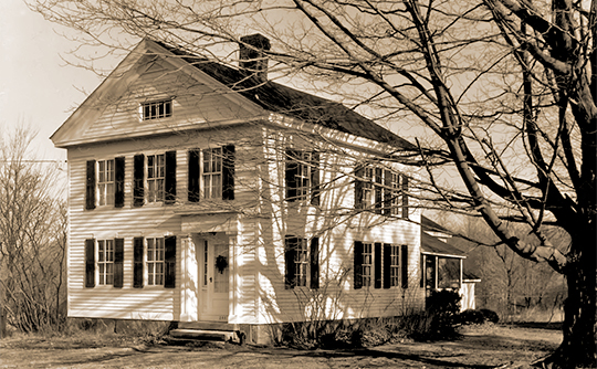 Caleb Dudley III House, ca. 1764, 212 Clapboard Hill Road, Dudleytown Historic District, Guilford, CT, National Register