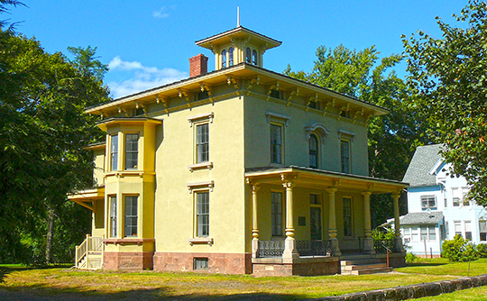Franklin Johnson House, ca. 1866, 153 South Main Street, Wallingford, CT, National Register