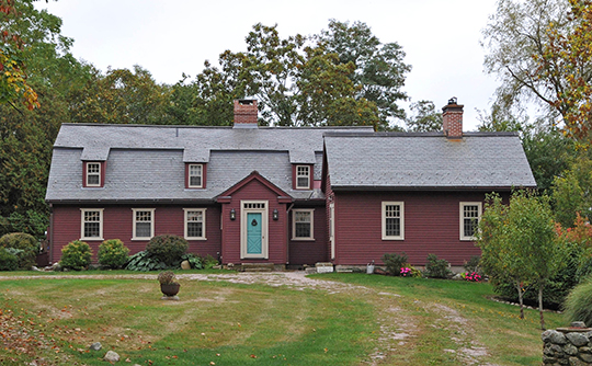 Edward Yoemans House (Cove Nook Farm), ca. 1713, Brook Street, Groton, CT, National Register