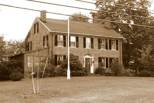 Nathaniel Parsons House, ca. 1819, 521 Main Street, Somers Historic District, Somers, CT, National Register