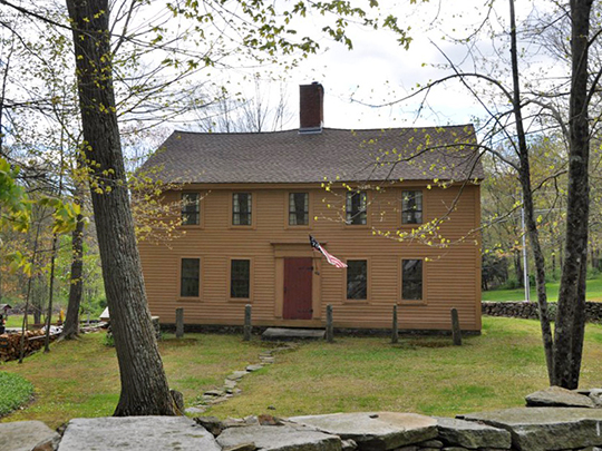 John Cady House, ca. 1720, 484 Mile Hill Road, Tolland, CT, national register