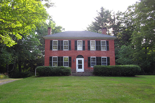 Witter House, ca. 1820, Chaplin Historic District, Chaplin, CT, National Register