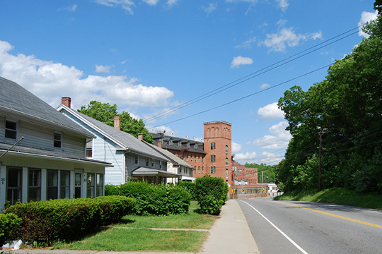 Homes and Mill (no longer extant) in the Dayville Historic District, Dayville, CT, National Register
