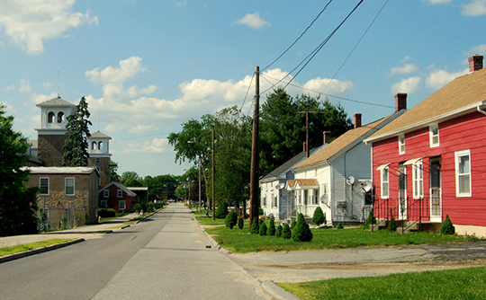 Homes in the Wauregan Historic District, Plainfield, CT, National Register
