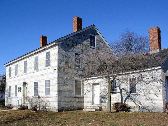 William Jillson Stone House, ca. 1825, 561 Main Street, Willimantic, CT, National Register
