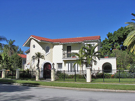 House at 190 Bosphorous Avenue, ca. 1927,  in Davis Islands neighborhood of Tampa, Florida.