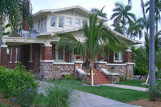 Home on Rhode Island Avenue, ca. 1926, Dean Park Historic District, Fort Myers, FL, National Register