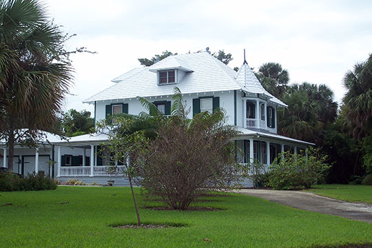 Krueger House (Burn Brae Plantation), ca. 1894, 1170 South East Ocean Boulevard, Stuart, FL, National Register