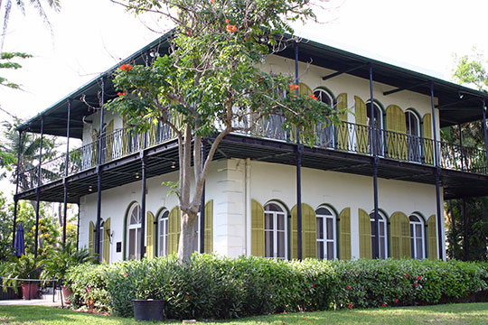 Ernest Hemingway House, ca. 1851, 907 Whitehead Street, Key West, FL, National Register