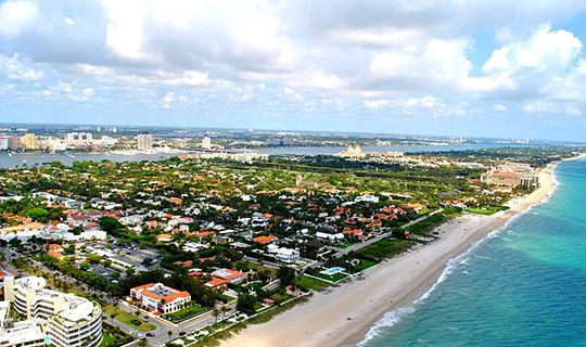 Aerial photo of the Town of Palm Beach.